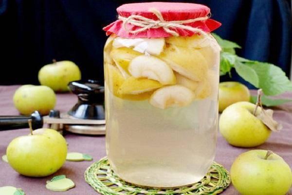 ТОП 2 рецепта приготовления компота из яблок с мятой на зиму
