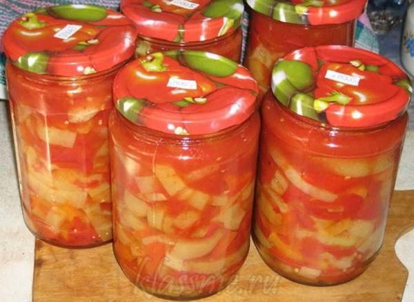 Салат зимние заготовки кабачки в томатном соусе