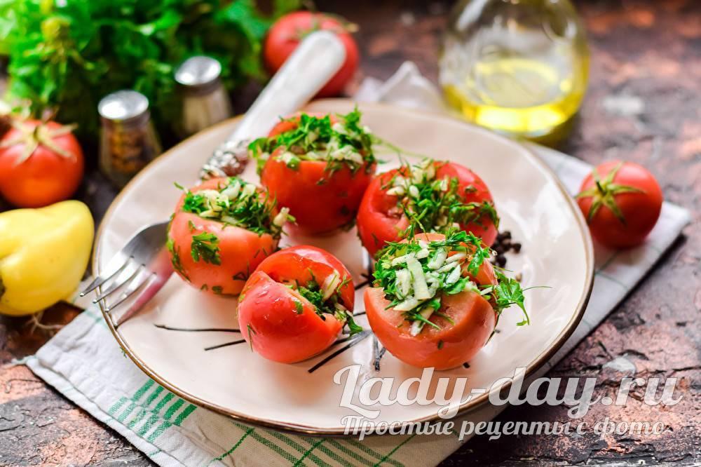 Целые помидоры по-грузински на зиму
