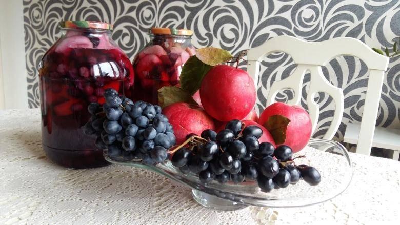 Компот из яблок на зиму на 3 литровую банку без стерилизации — 7 простых рецептов