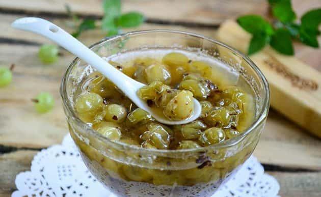 Желе из крыжовника на зиму — простые рецепты с желатином, пятиминутки, без варки