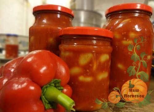 Баклажаны с фасолью и овощами на зиму – рецепт с фото приготовления салата
