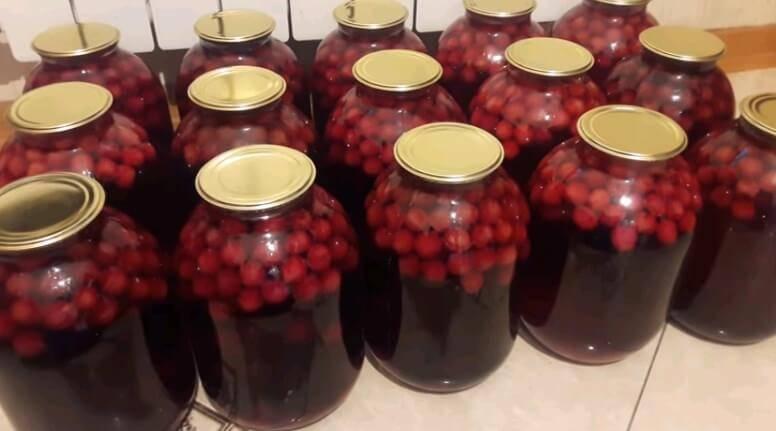 Компот из черешни (вишни) с косточками на зиму. простой и вкусный рецепт вишнёвого компота!