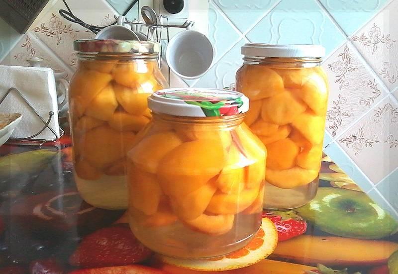 Персики на зиму: лучшие рецепты с пошаговыми фото