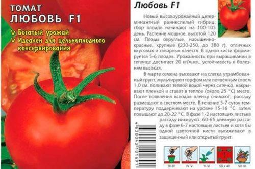 Описание сорта томатов любовь — характеристика, фото и отзывы