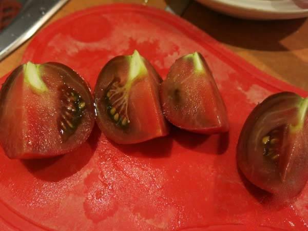 Описание и урожайность сорта томата Зефир в шоколаде