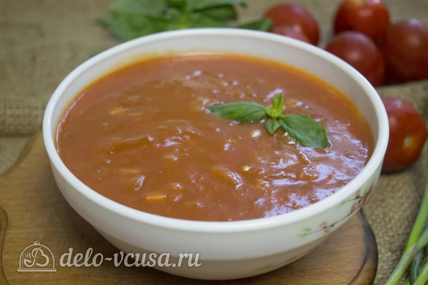 Томатный соус с базиликом на зиму, рецепт с фото пошагово
