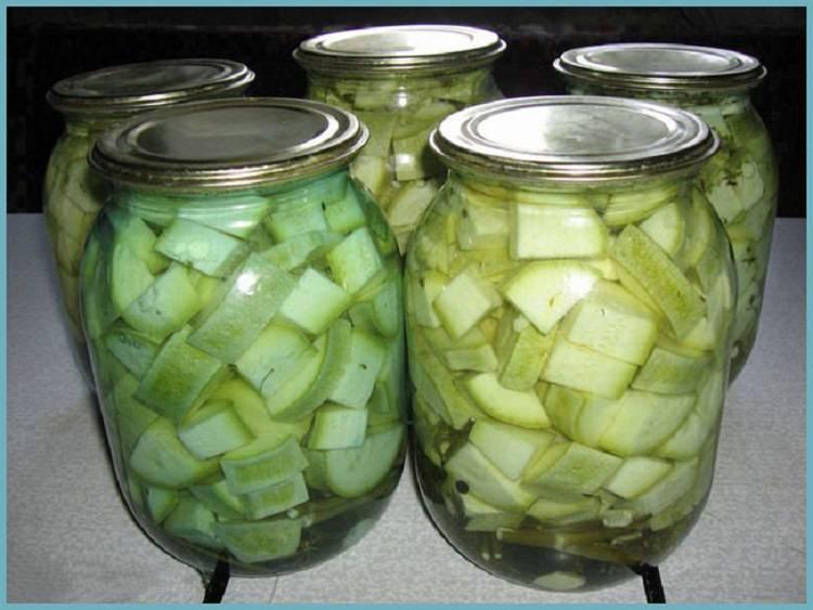 Вкуснейшие рецепты хрустящих кабачков маринованных с уксусом