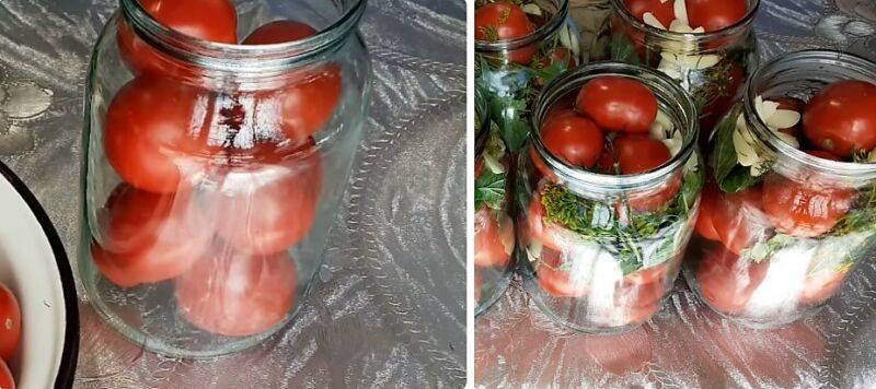 Топ 6 рецептов маринованных помидоров с чесноком внутри на зиму