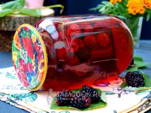 Компот из ежевики на зиму — вкусные и простые рецепты ягодного напитка