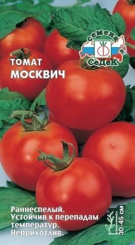Характеристика и описание сорта томата Москвич, его урожайность