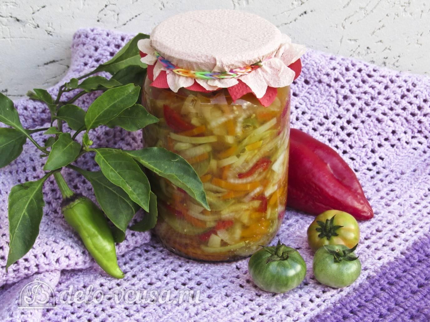 Топ 20 простых рецептов закусок из зеленых помидоров на зиму