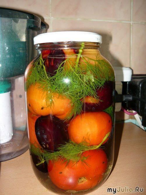 Рецепты заготовки помидоров со сливами на зиму