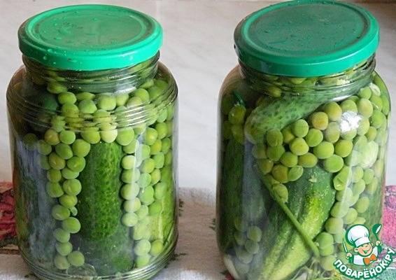 Рецепты маринования огурцов с зеленым горошком на зиму