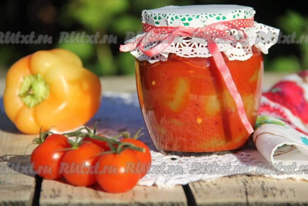 Перец в томатном соке на зиму — 4 очень вкусных рецепта