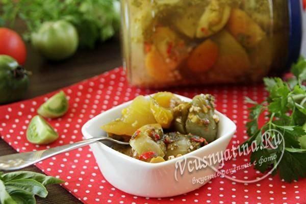 Рецепт аджики из зелёных помидоров на зиму