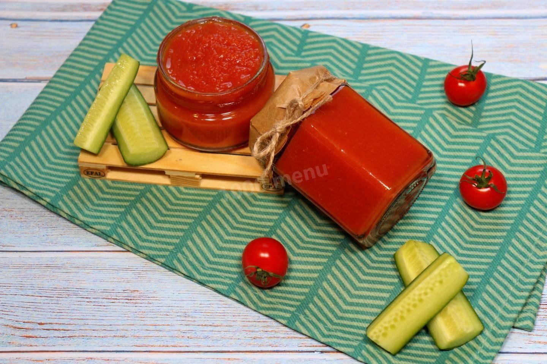 Томатный соус острый, сладкий, без уксуса и стерилизации — простые рецепты на зиму