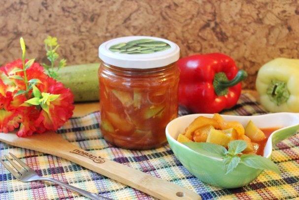 Кабачковая икра на зиму с томатной пастой
