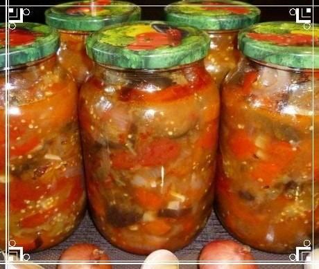 5 лучших рецептов закуски из баклажанов с помидорами и чесноком на зиму