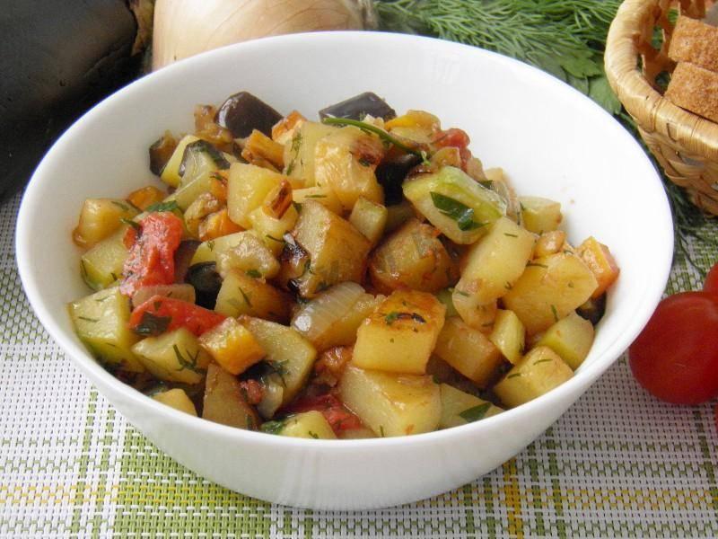 Закуска из кабачков и баклажанов на зиму
