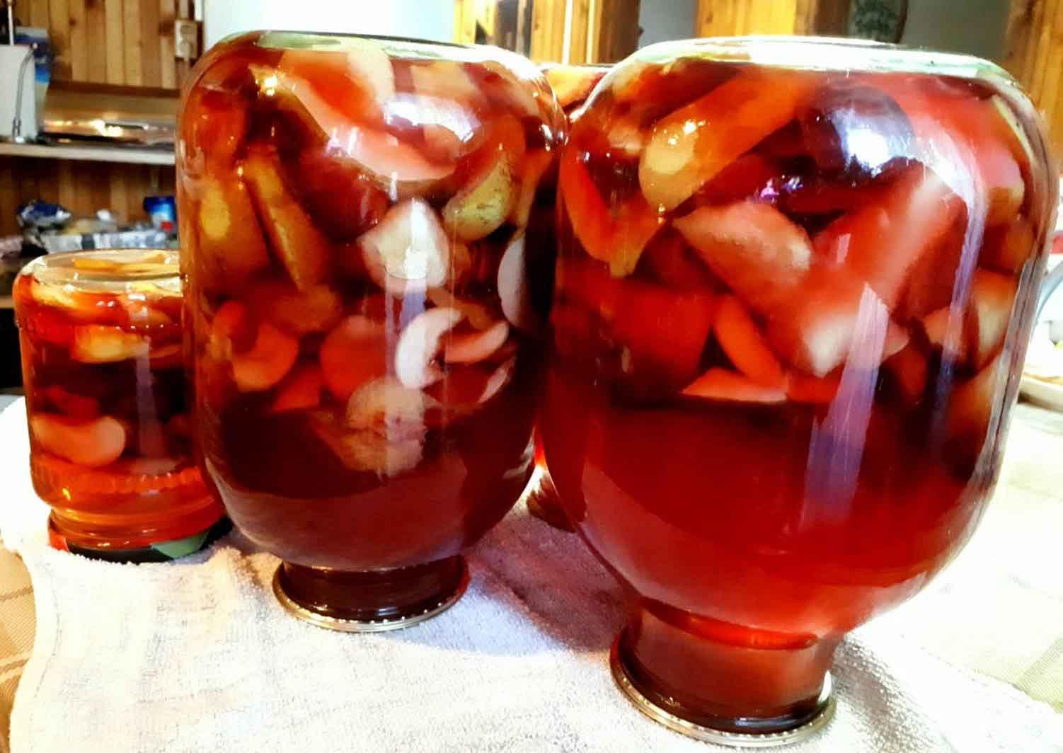 Компот из яблок и груш: простой рецепт на зиму с фото и видео