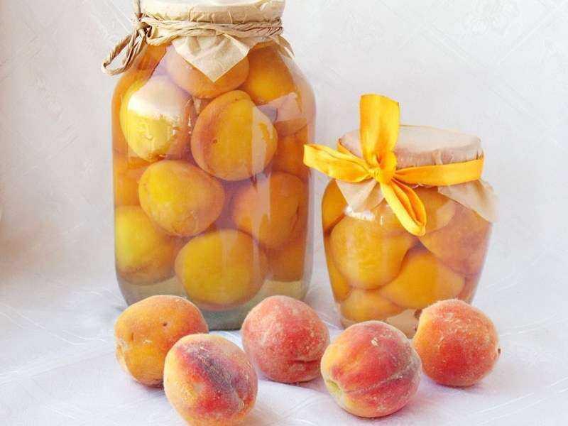 Топ 4 рецепта приготовления консервации из персиков в сиропе на зиму
