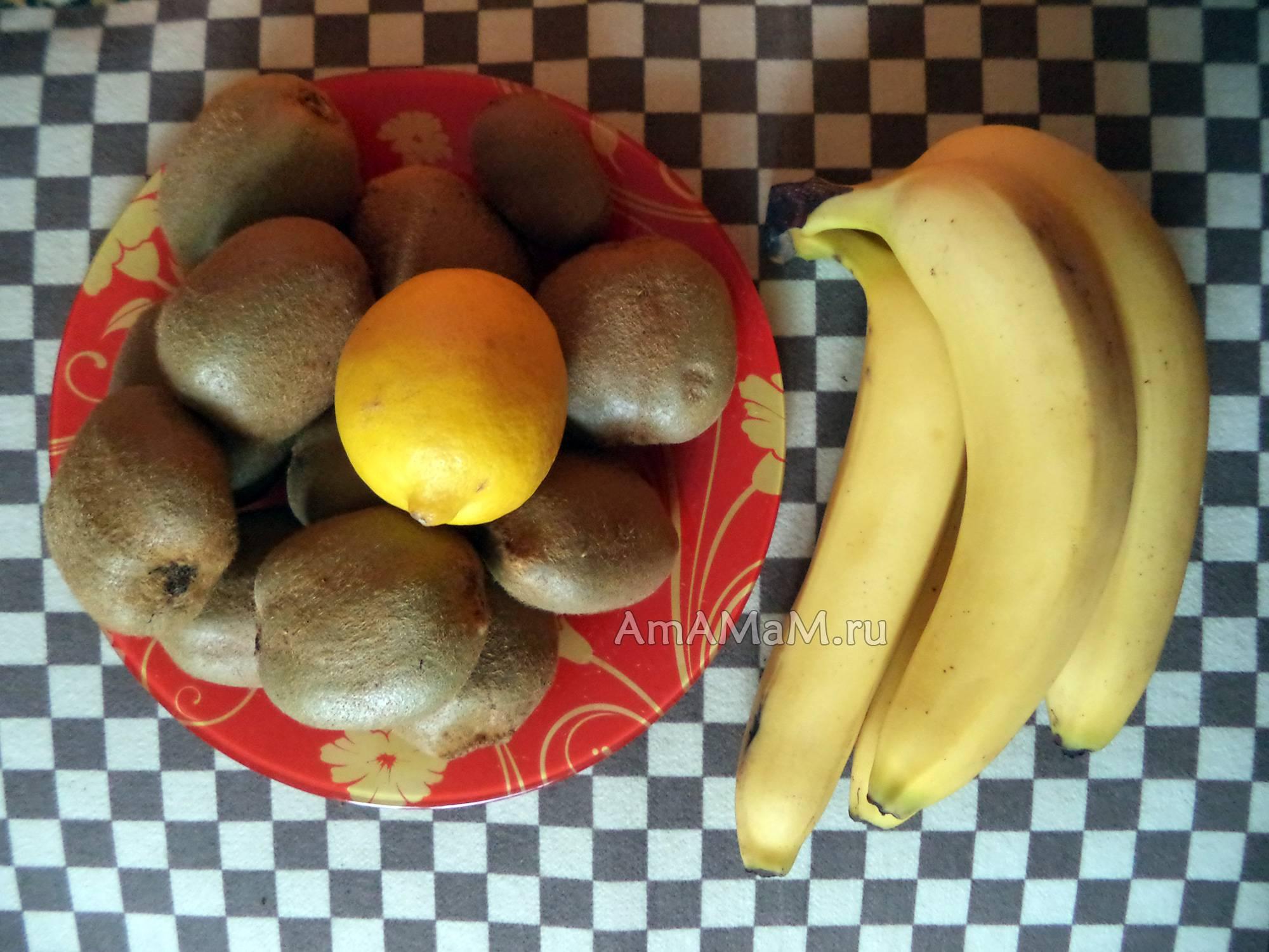 Простой рецепт приготовления варенья из киви и банана на зиму