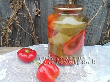 Рецепт перца маринованного на зиму
