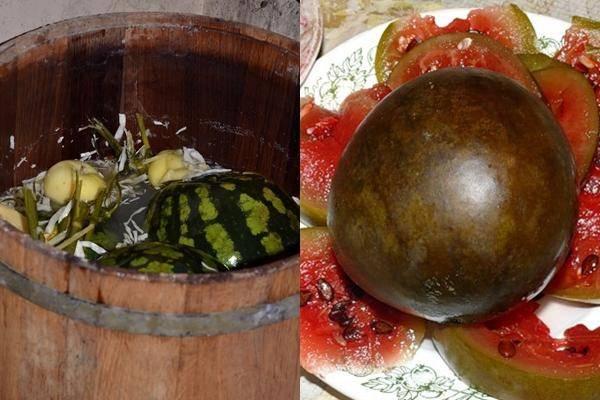 Как солить арбузы в бочке бабушкин рецепт