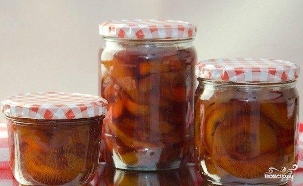 Заготовки из персиков на зиму