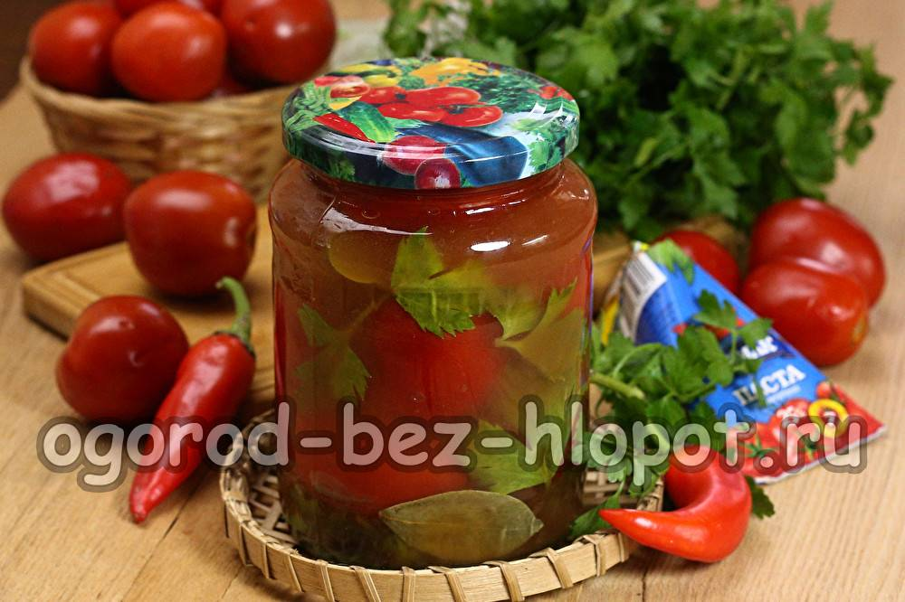 Салат из помидоров с луком заготовки на зиму
