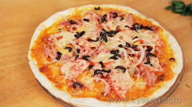 Томатный соус для пиццы на мясном бульоне