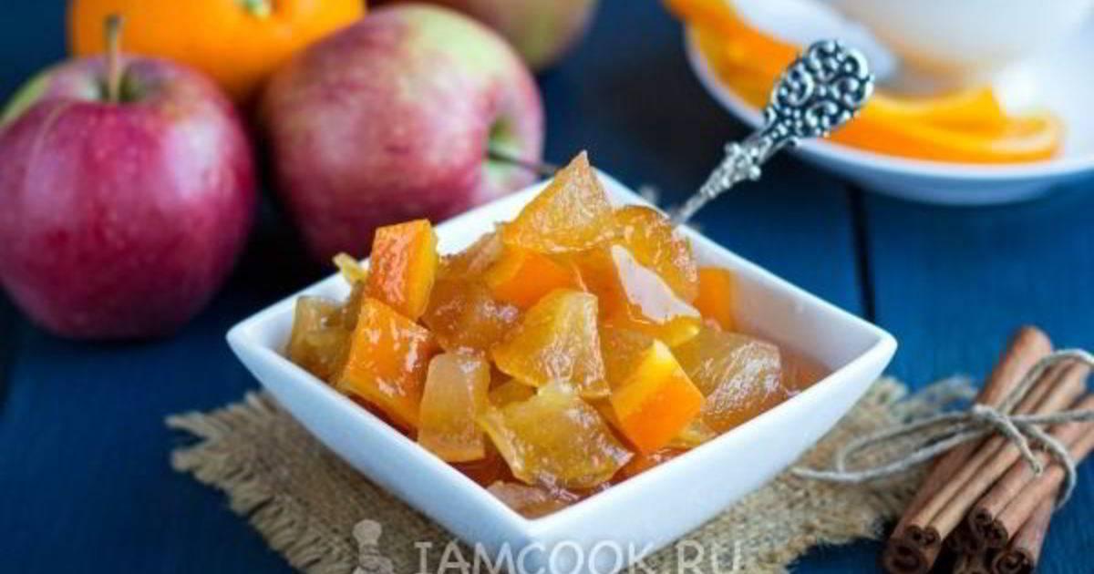 Рецепт яблочного джема на зиму в мультиварке с лимоном, апельсином
