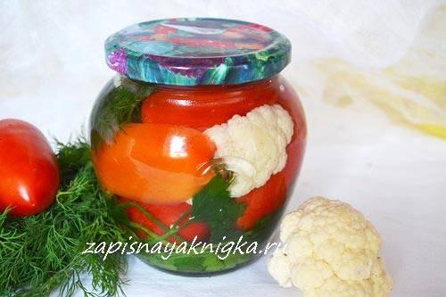 Цветная капуста маринованная на зиму — пальчики оближешь!