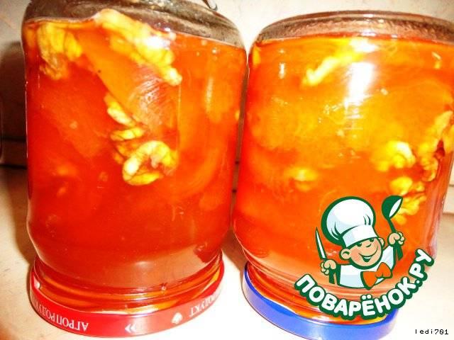 Варенье из абрикосов с орехами на зиму