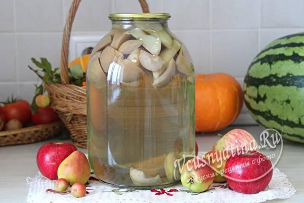 Компот из яблок, груш и слив на зиму