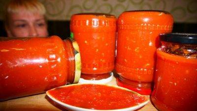 Приправа огонек из помидоров и перца: 17 рецептов