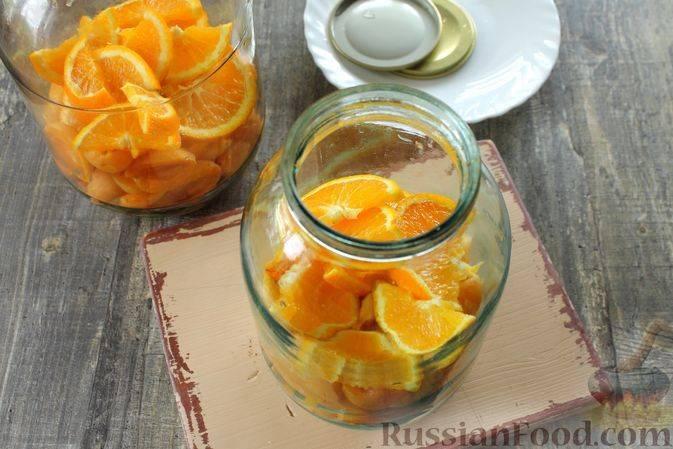 Фанта из абрикосов и апельсинов на зиму