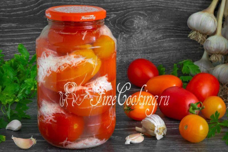 Соление помидор с чесноком в снегу. помидоры в снегу с чесноком на зиму: рецепт консервирования с видео