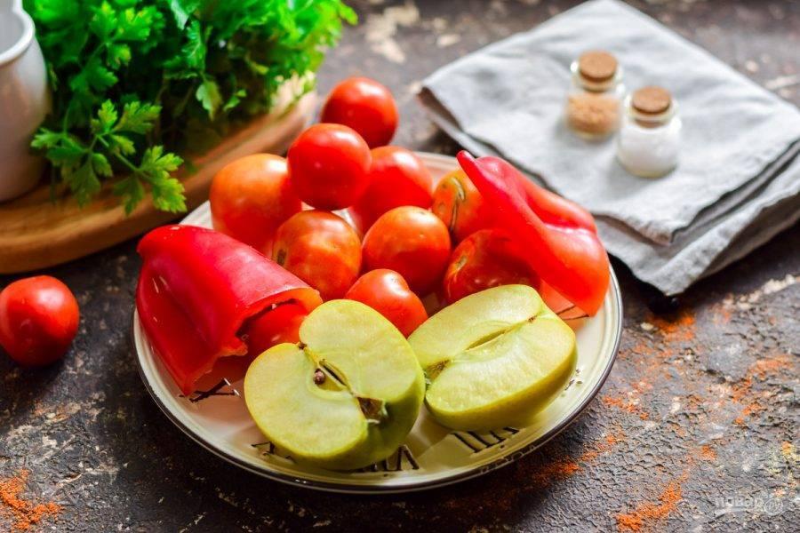 Маринованные помидоры с яблоками: рецепт и фото