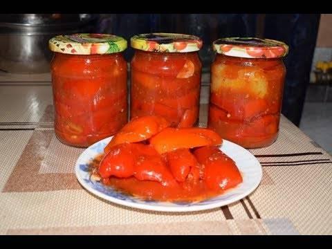 Как приготовить перец в томатном соусе на зиму по пошаговому рецепту с фото