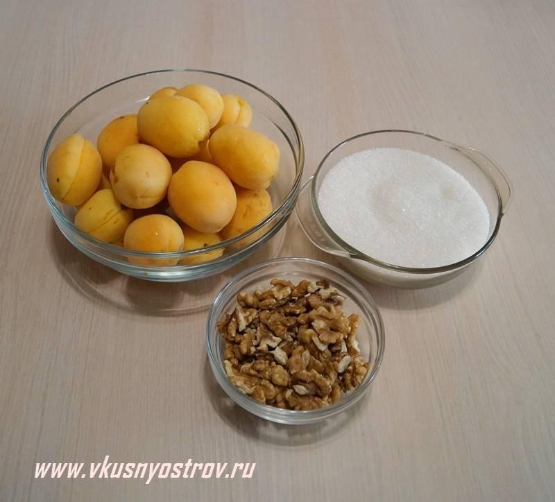 6 лучших рецептов абрикосового варенья с грецкими орехами на зиму