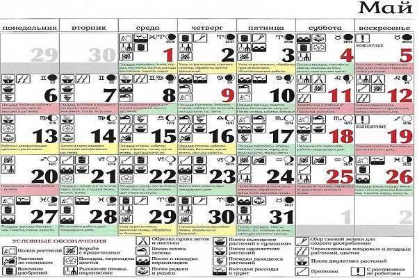 Лунный календарь на май 2018 года для садоводов, огородников, цветоводов
