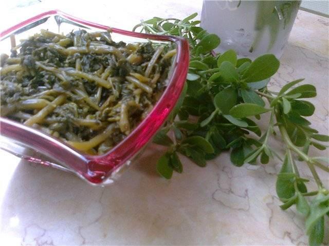 Портулак салатный. маринованный портулак