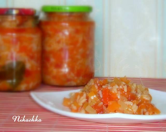 Салат с рисом на зиму — очень вкусные рецепты, пальчики оближешь