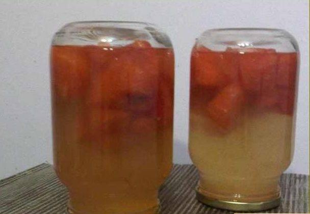 Пошаговый рецепт приготовления компота из арбуза на зиму
