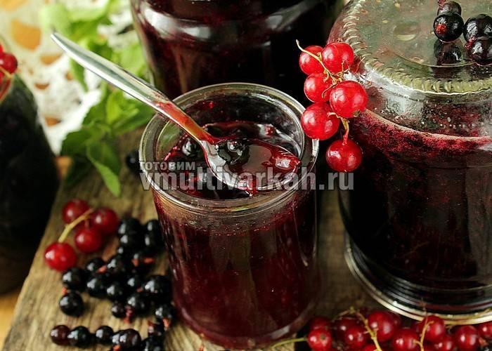 Варенье из красной смородины на зиму — простые рецепты приготовления