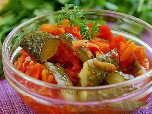 Рецепты лечо из огурцов на зиму с томатной пастой