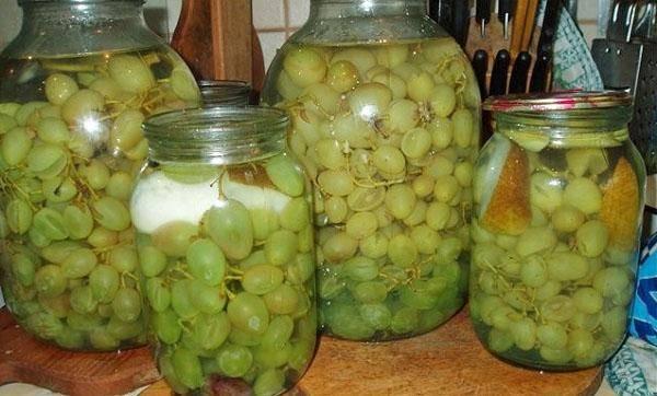 Маринованный виноград под оливки: пошаговый рецепт консервирования на зиму
