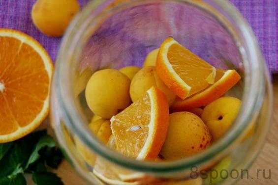 Фанта из абрикосов на зиму — рецепты компота с апельсином, лимоном, мятой